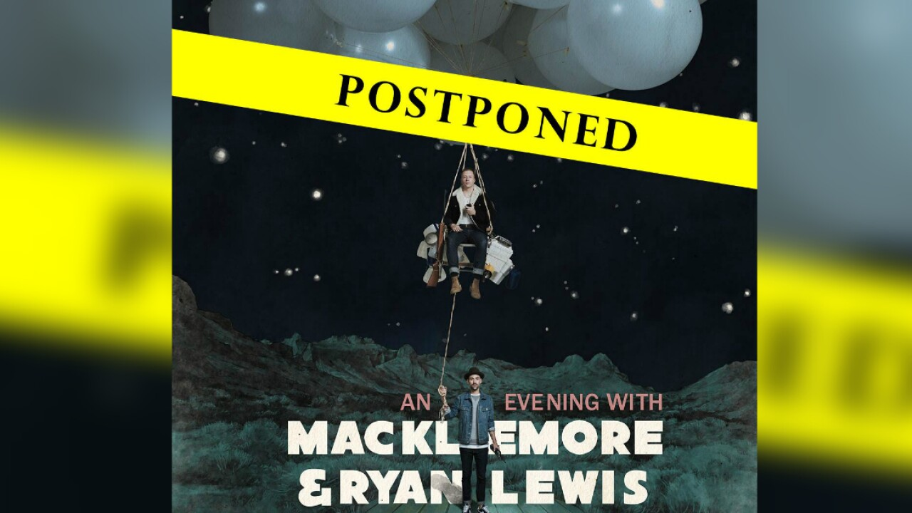 Macklemore and Ryan Lewis concert moved to Sunday