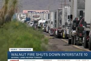 Walnut Fire near Benson triggers evacuations, shuts down I-10