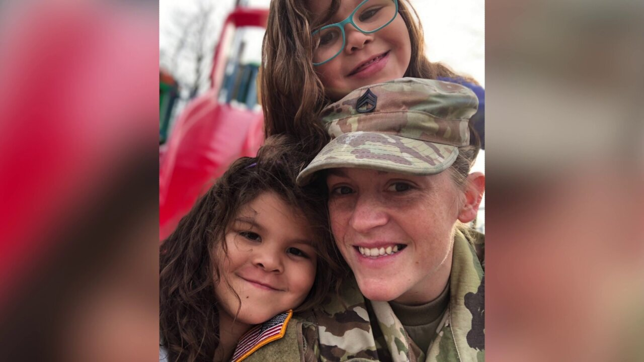 Husband calls soldier wife a 'hero' after saving family in Richmond fire