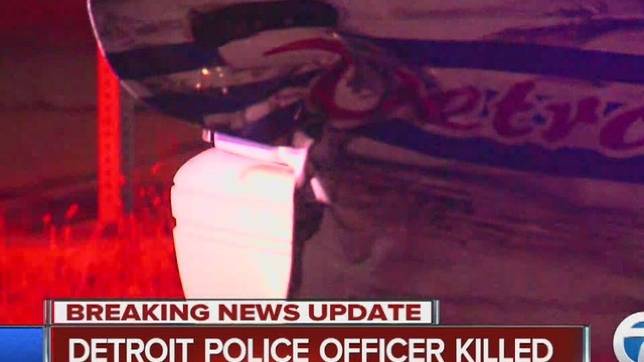 Detroit police officer hit by car