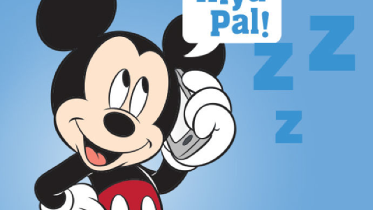 Get a special bedtime call from Mickey and pals