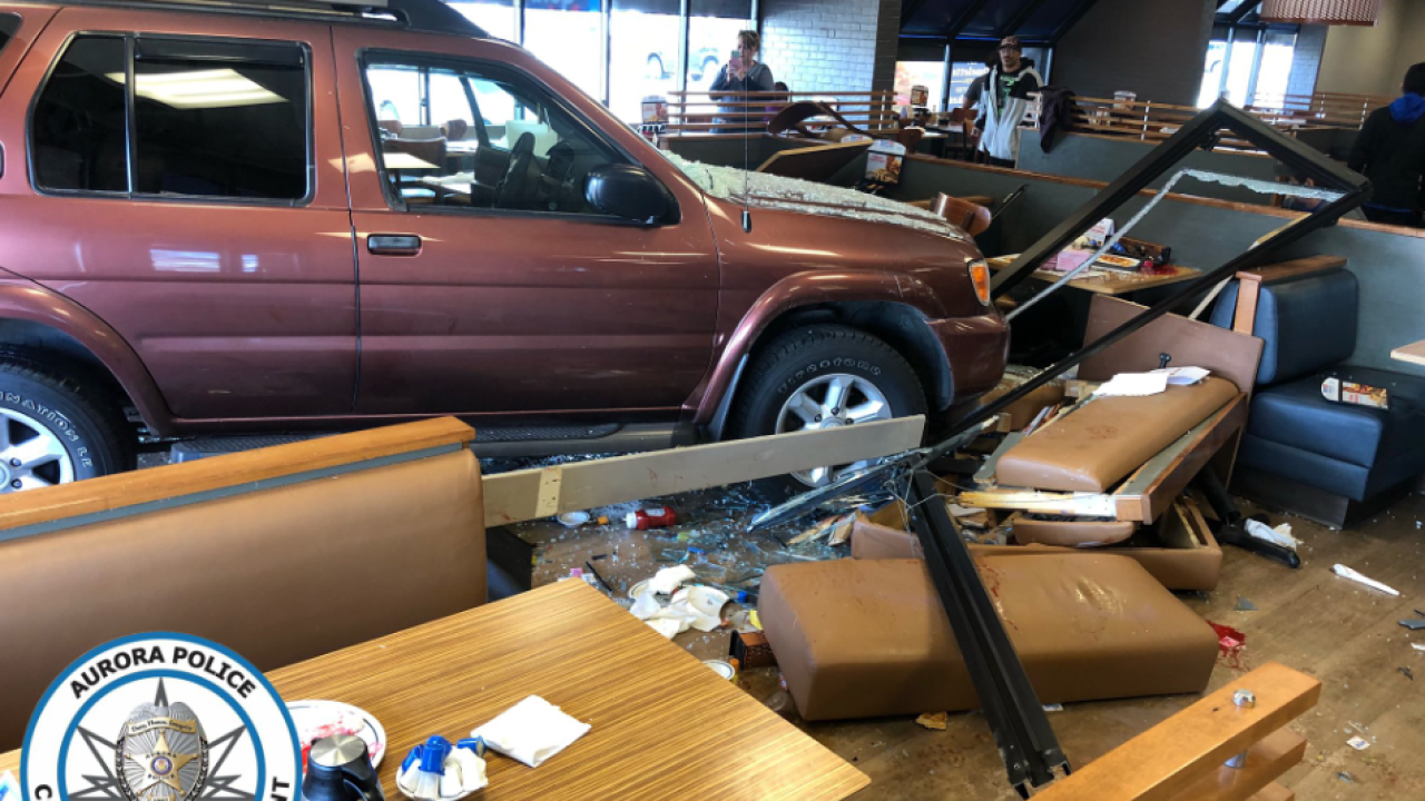 Driver crashes into Aurora IHOP, injuring at least 5 people