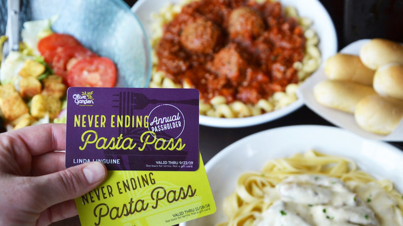 Olive Garden offers 'annual pasta pass'