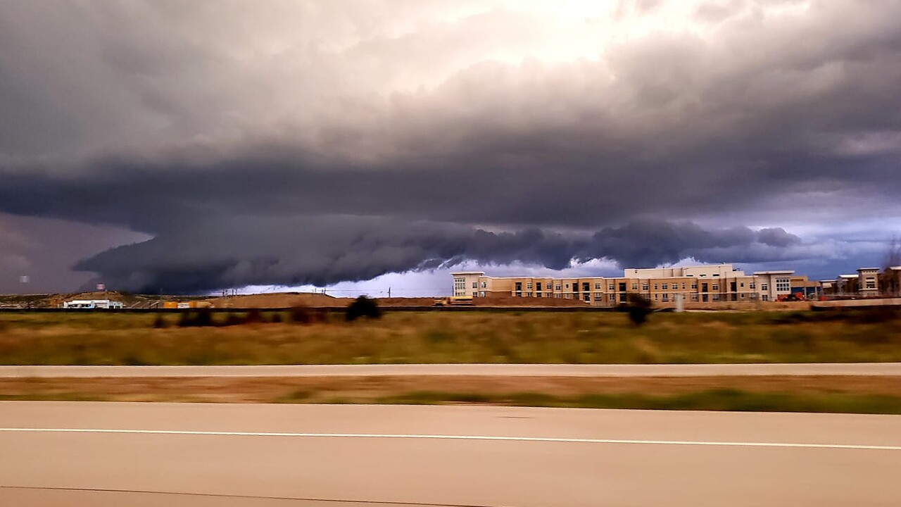 Storm cloud from I-25