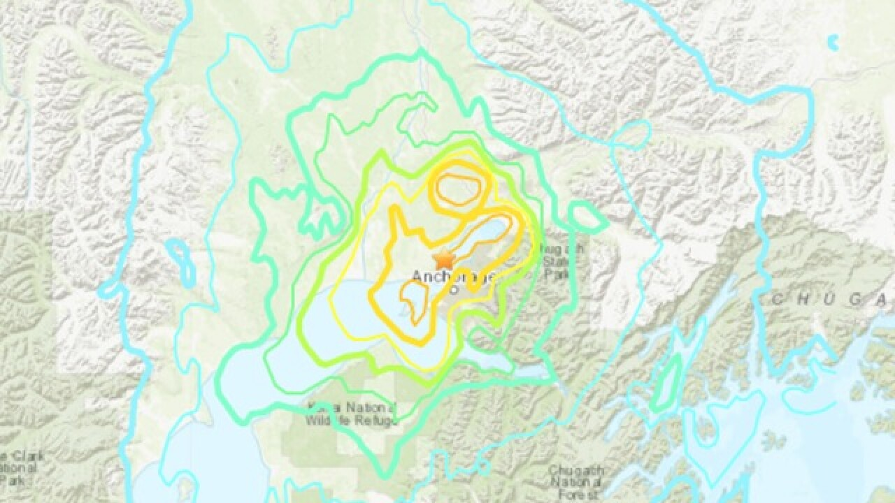 Earthquake in Alaska causes airplanes to halt, aftershocks rattle state