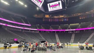 Vegas Golden Knights host blood drive at T-Mobile Arena on 1 October anniversary