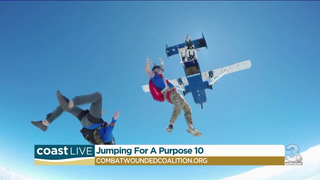 Talking with local vets about Jumping for a Purpose on CoastLive