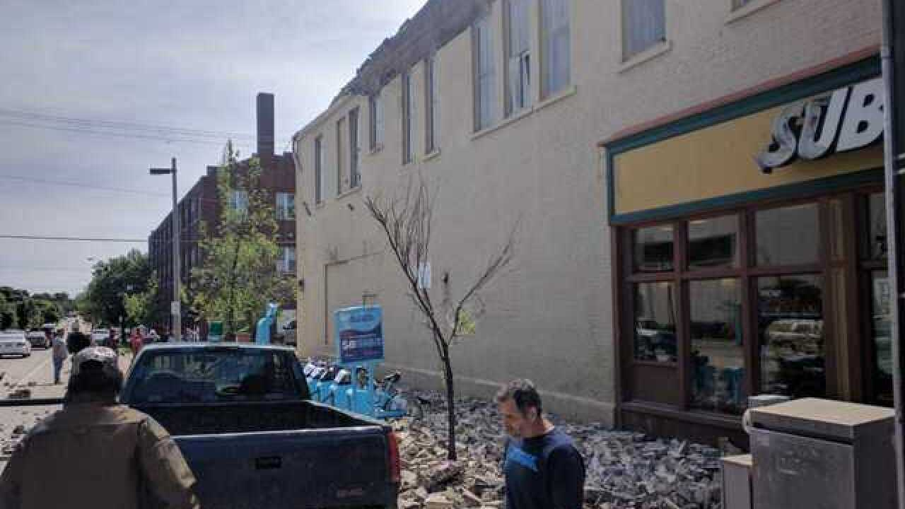 Hundreds of bricks fall as MKE facade collapses