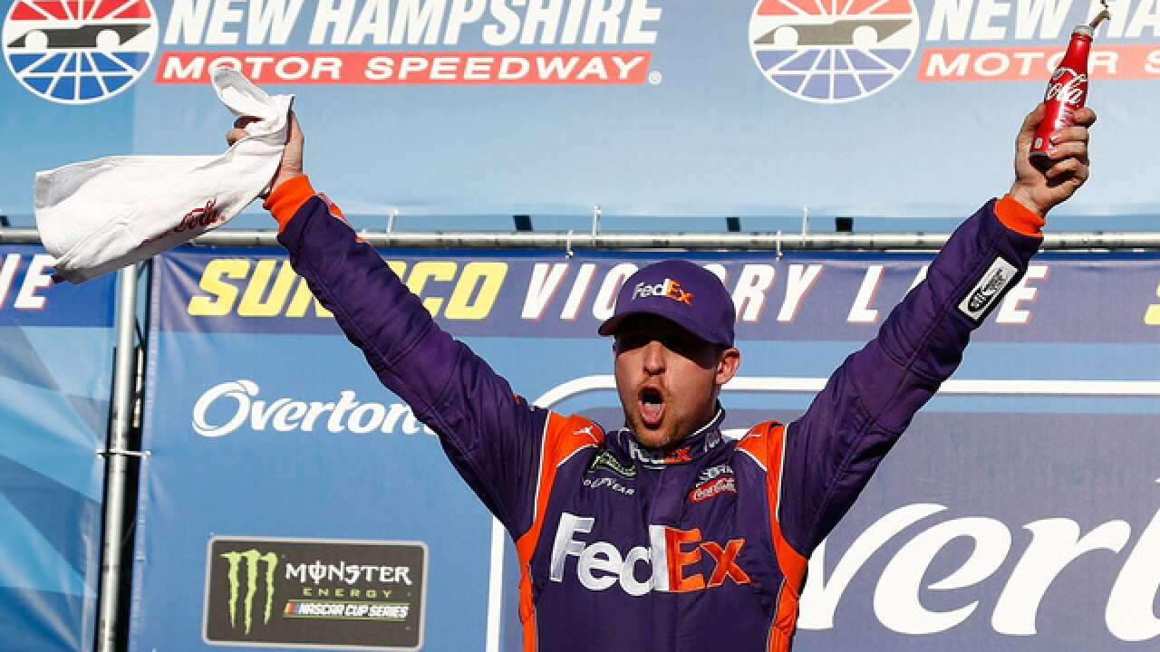 Denny Hamlin ends Joe Gibbs Racing winless skid at New Hampshire