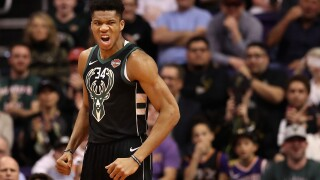 Giannis Antetokounmpo says 'something big dropping' on April 4.