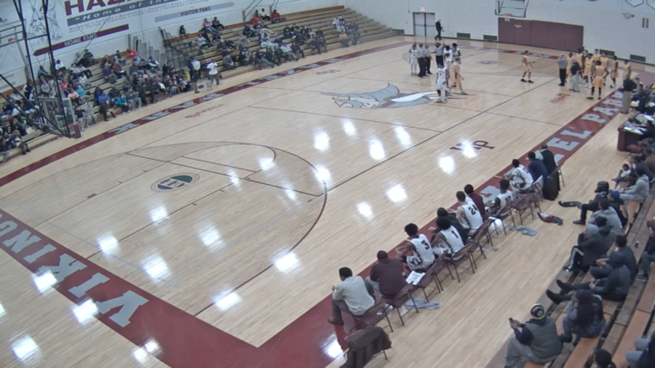 High school basketball game ends in brawl