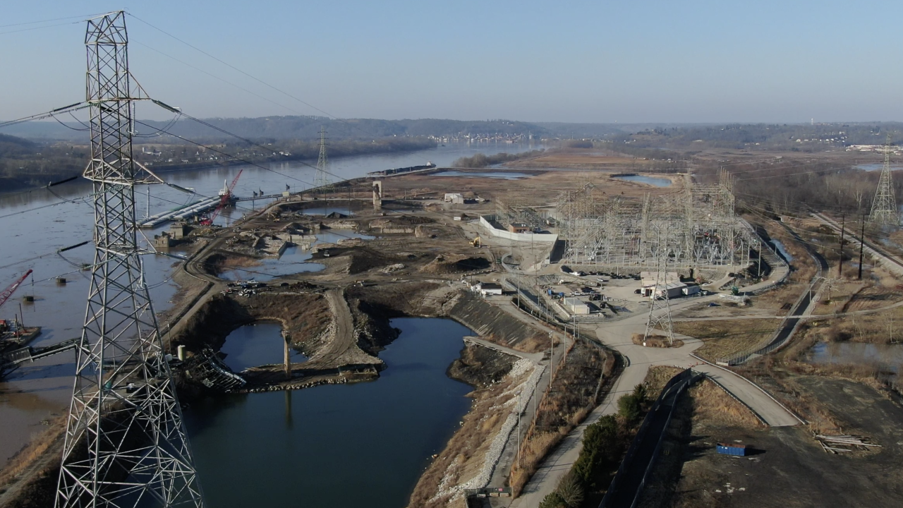The former Tanners Creek Generating Station in Lawrenceburg, IN