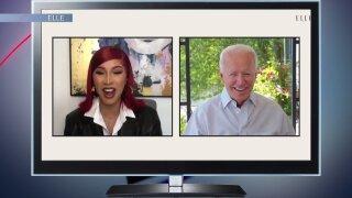 Cardi B and Joe Biden