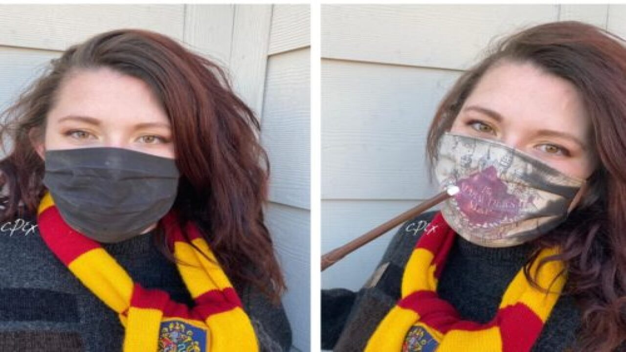 You Can Buy A Harry Potter 'Marauder's Map' Face Mask That Changes Color As You Breathe