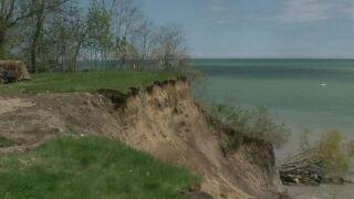 Rising waters threaten Lake Michigan communities