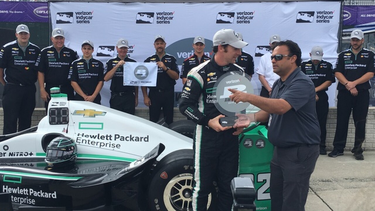 Pagenaud on pole for Dual in Detroit race 2