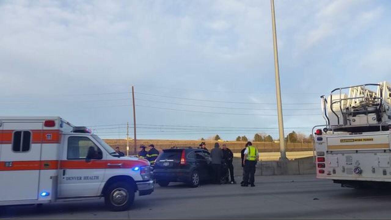 Officer-involved crash on I-25 near Hampden Ave.