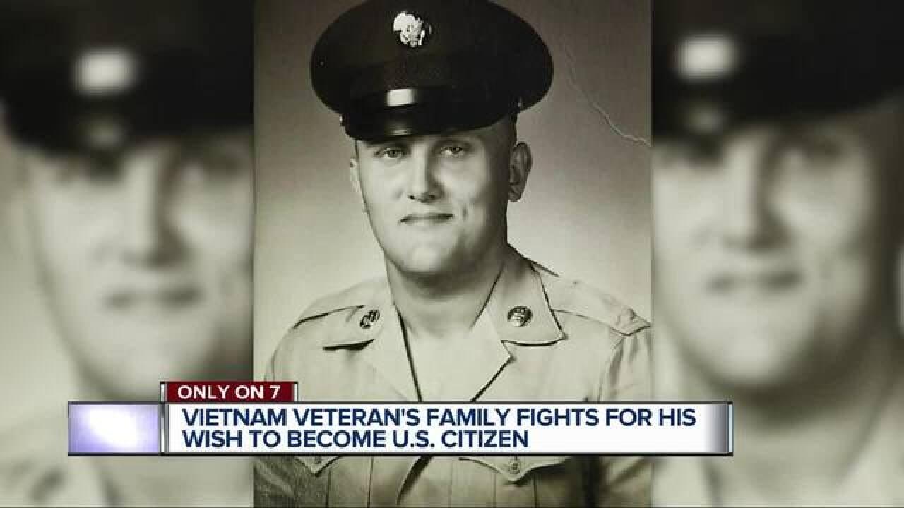 Vietnam veteran fights to become a US citizen