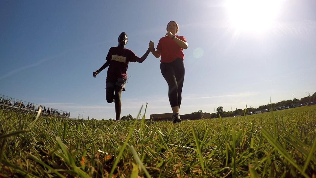 olathe blind sixth grader running cross country