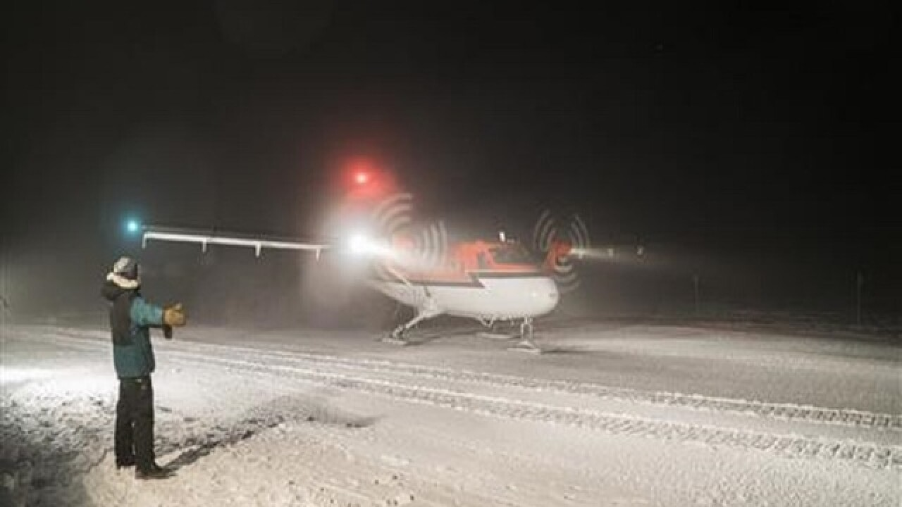 Daring flight removes 2 sick workers from South Pole station