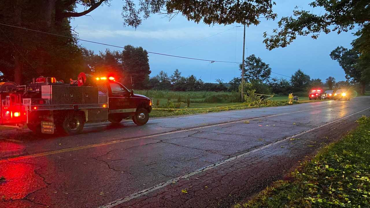 Overnight storms in Allegan and Kalamazoo counties 7/29/21