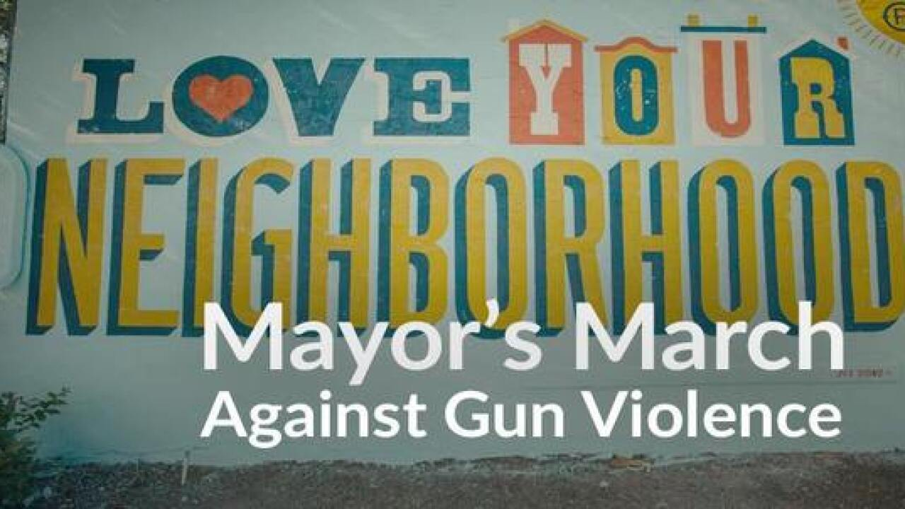 Mayor to lead 'March Against Gun Violence'