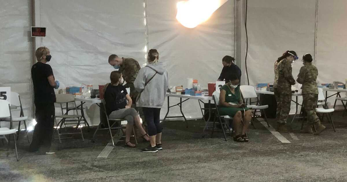 FIRST LOOK: FEMA takes us inside mass vaccination site in Tampa