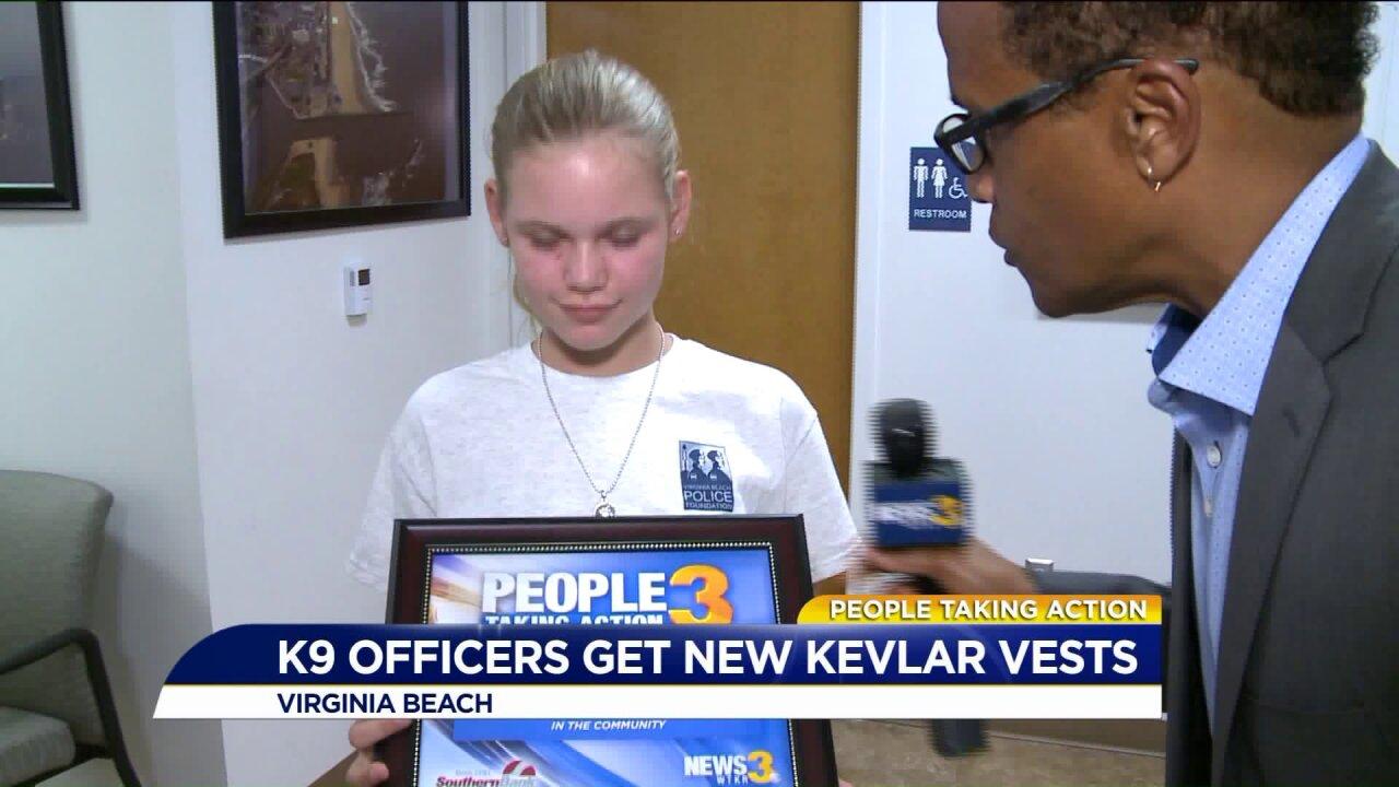 People Taking Action: 11-year-old raises big bucks to buy bulletproof vest for local policedog!