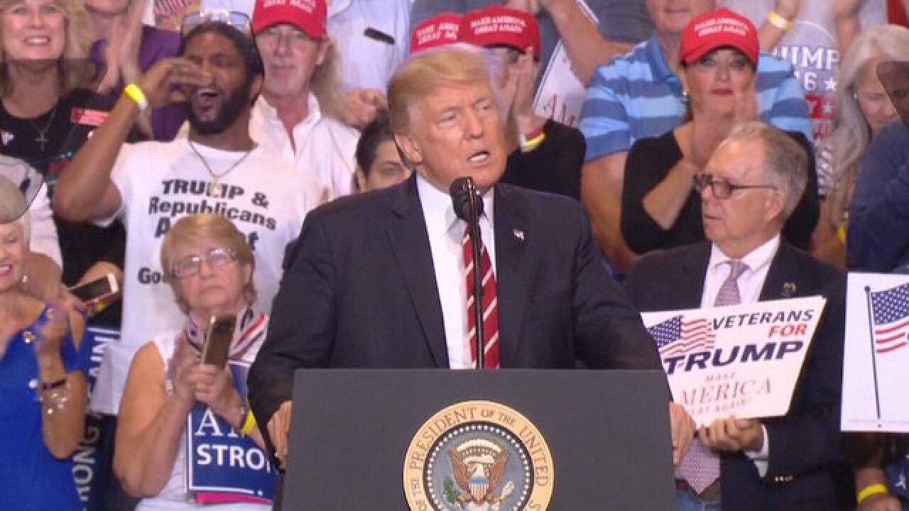Donald Trump hints he might pardon Joe Arpaio at Phoenix rally