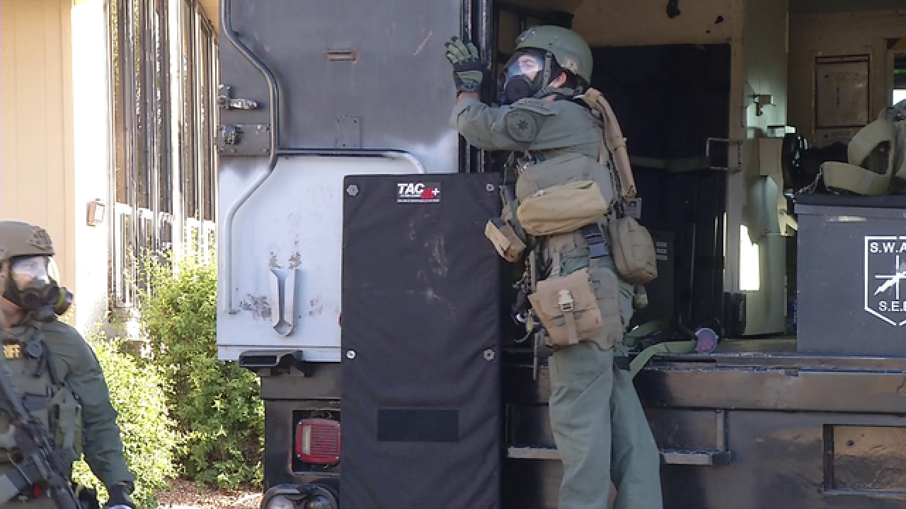 SWAT standoff underway at mobile home park