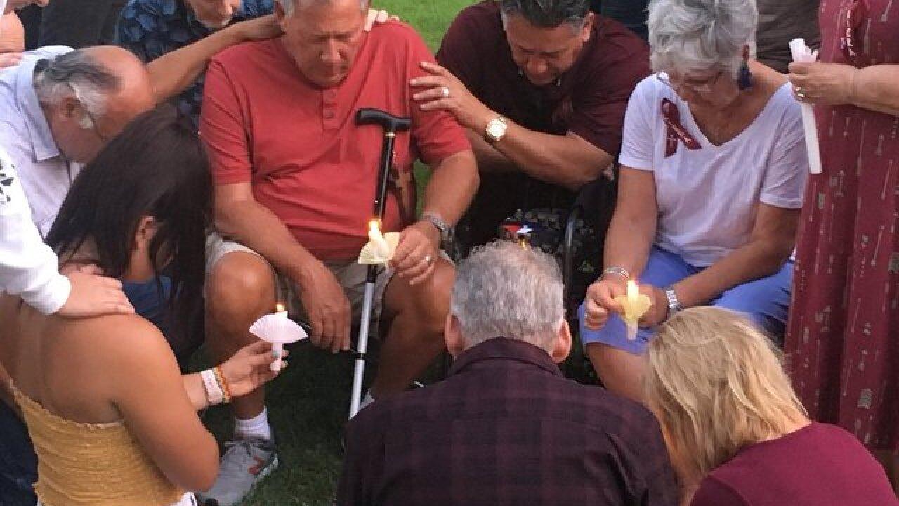 Vigil of hope for El Cajon native