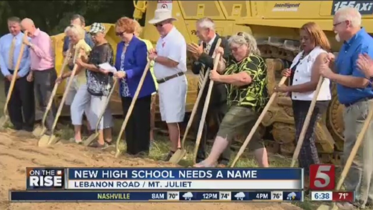 New Mt. Juliet High School Needs Name