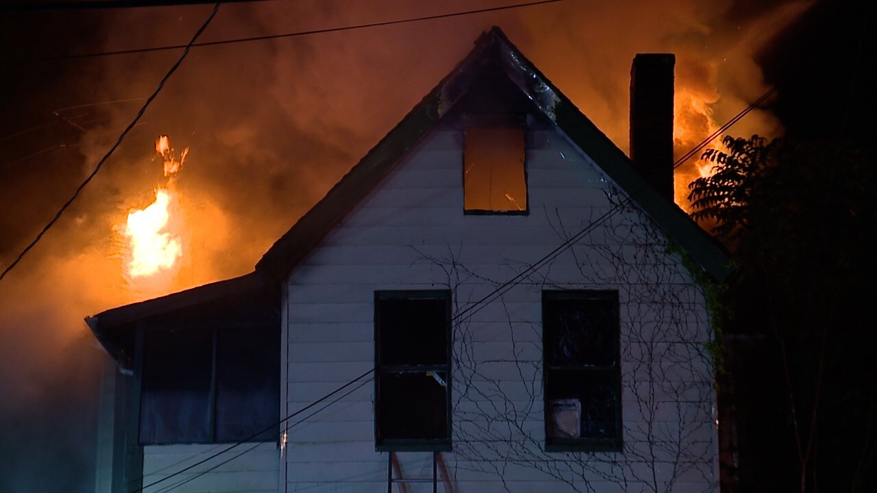 Cleveland house fire on Zoeter Avenue.