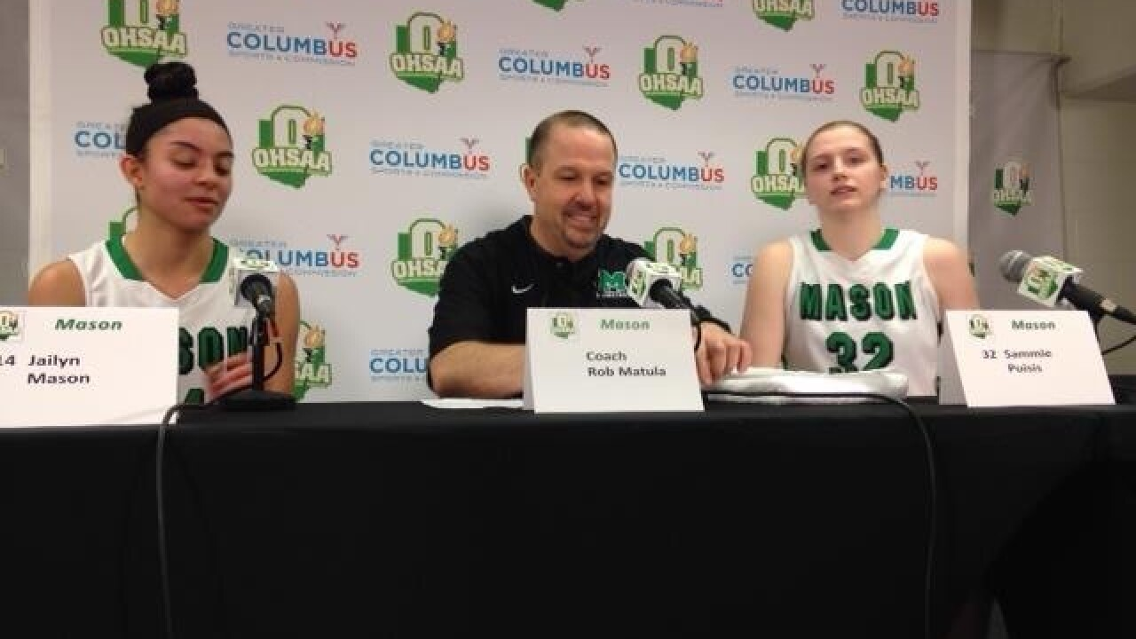 Mason girls one game away from their single goal