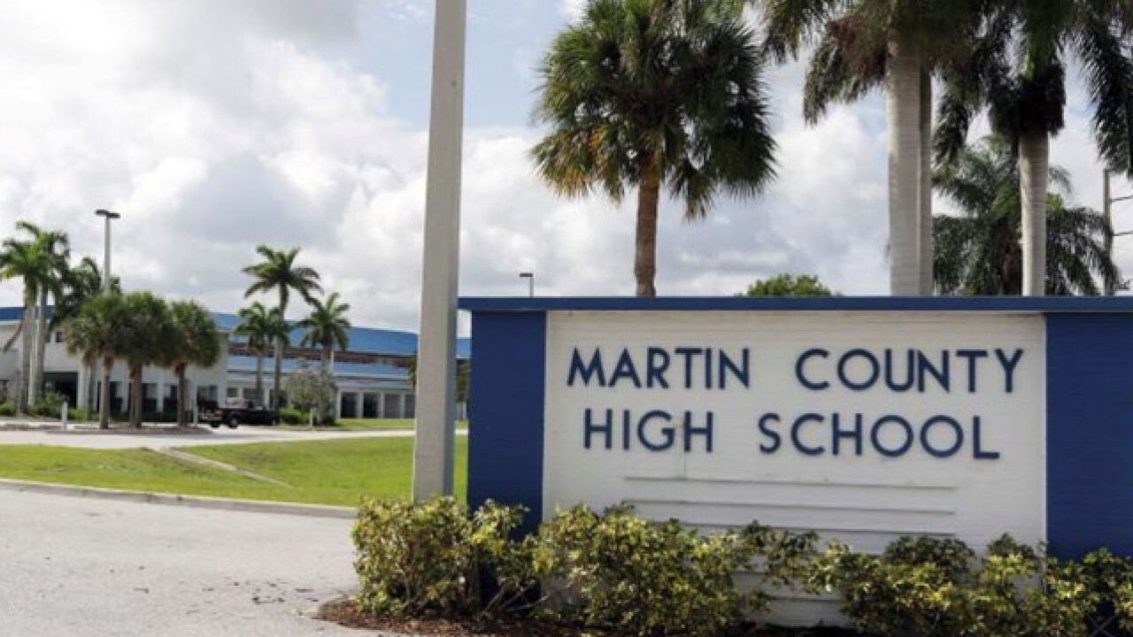 Gun found in vehicle parked at Martin County High School