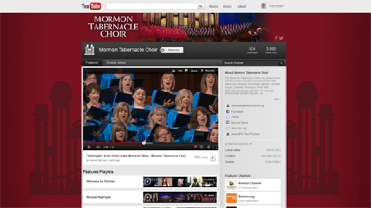 Mormon Tabernacle Choir launches YouTube channel