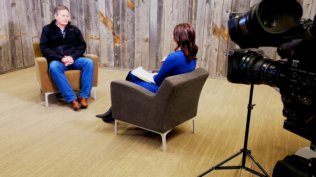 Daines sits down with MTN's Andrea Lutz at the Billings Public Library