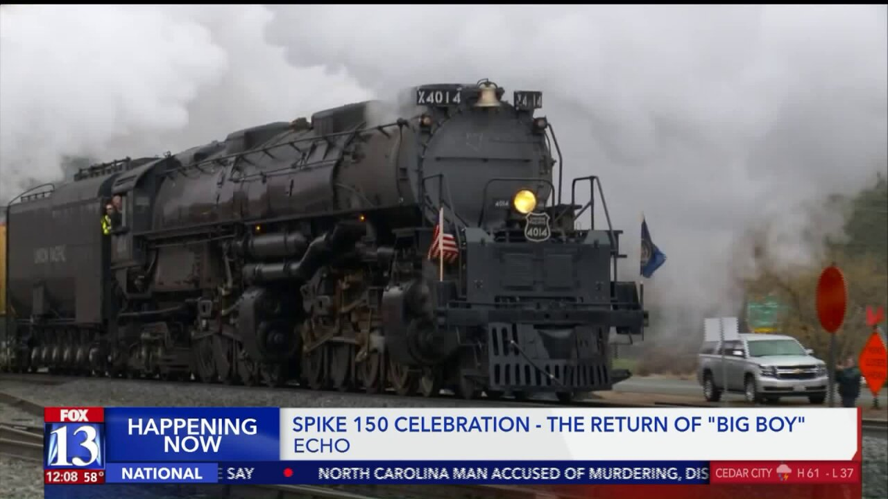 The return of 'Big Boy': historic locomotive arrives in Utah