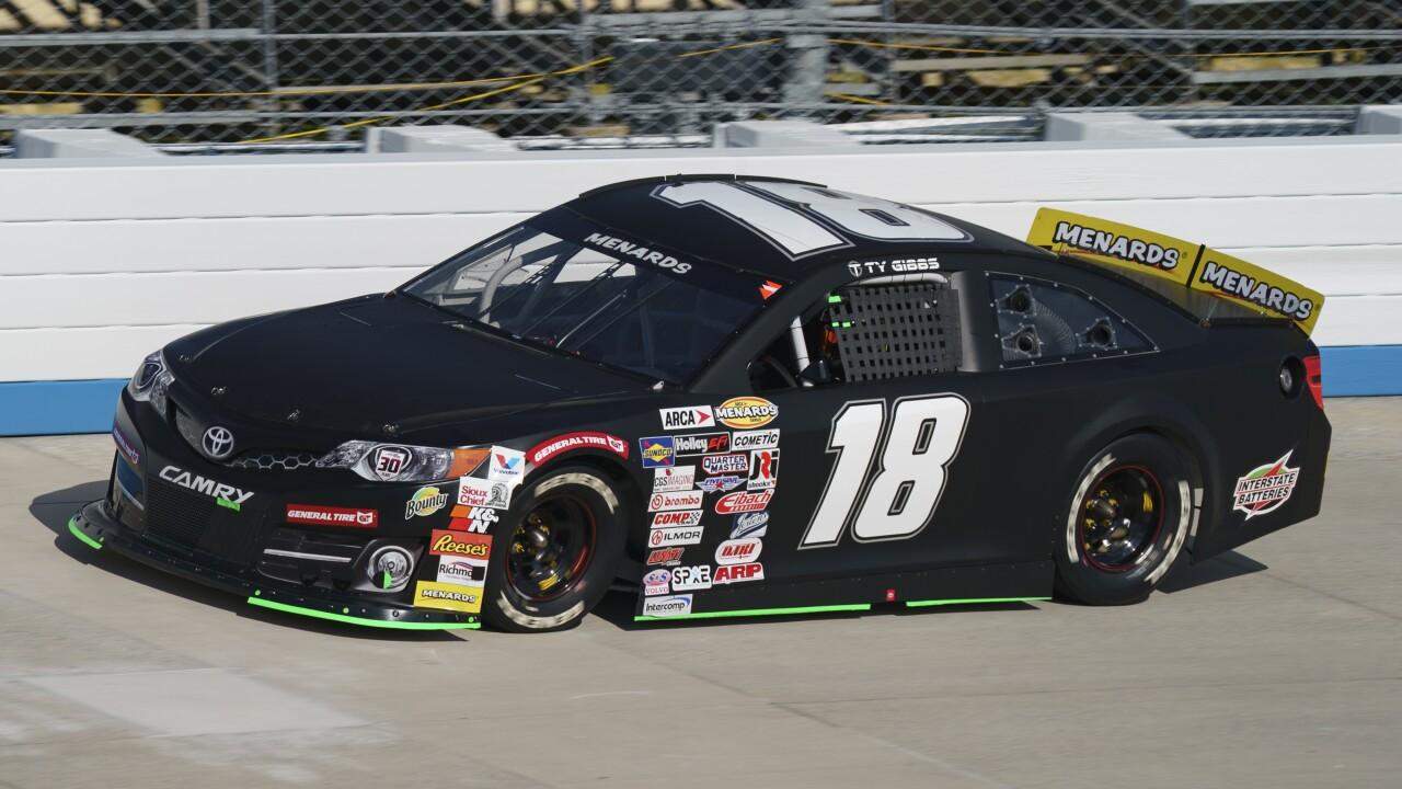 Ty Gibbs' No. 18 car