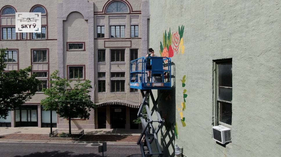 Painting Dayton's healing mural