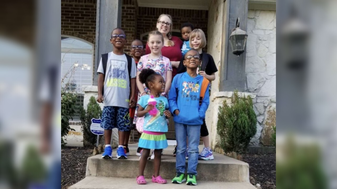 Texas couple adopts 5 siblings who were separated in foster care