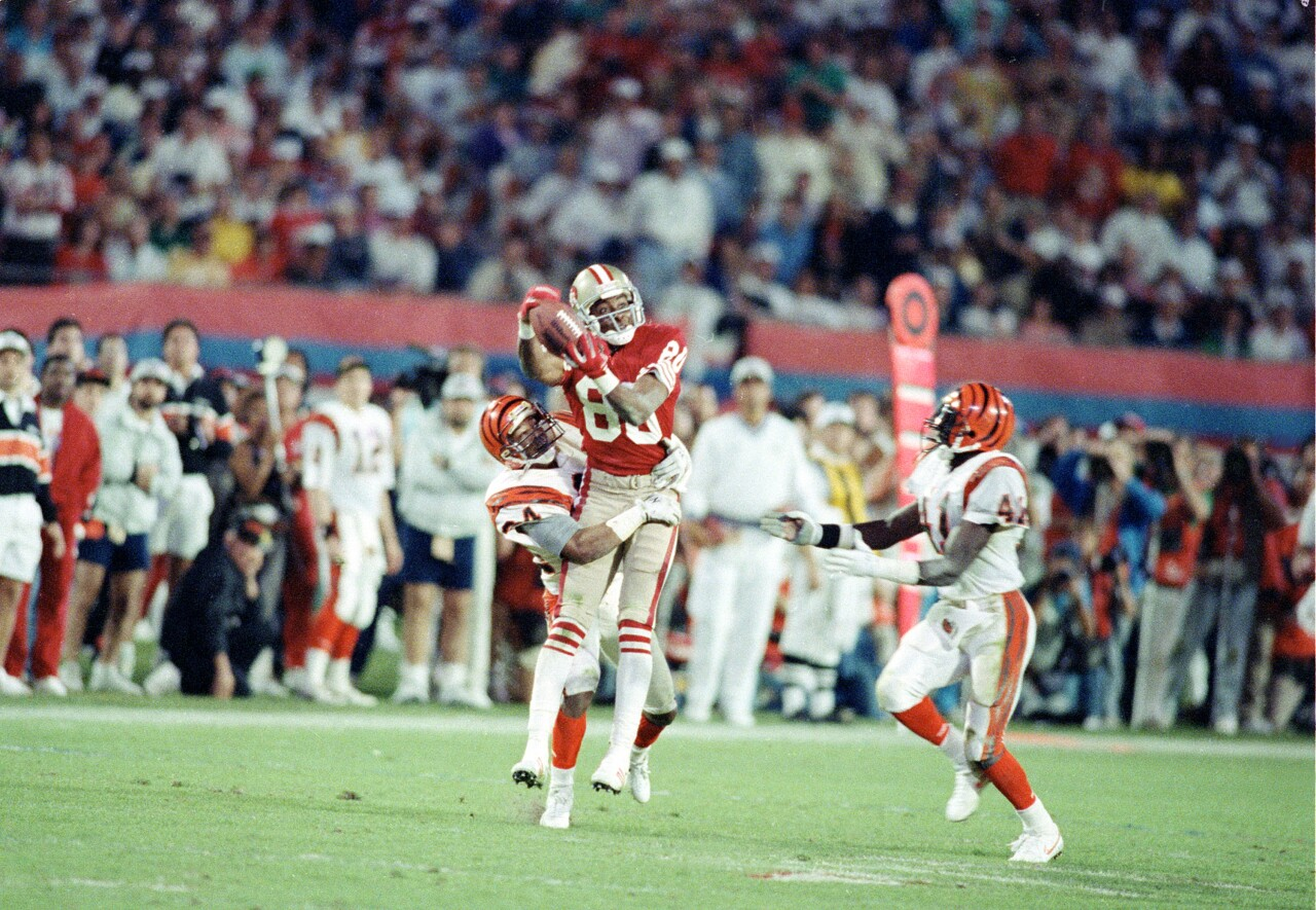 Jerry Rice, San Francisco 49ers at Super Bowl XXIII