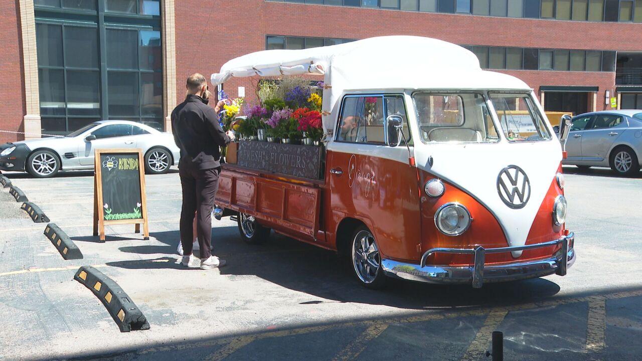 Orange Blossom Flower Truck