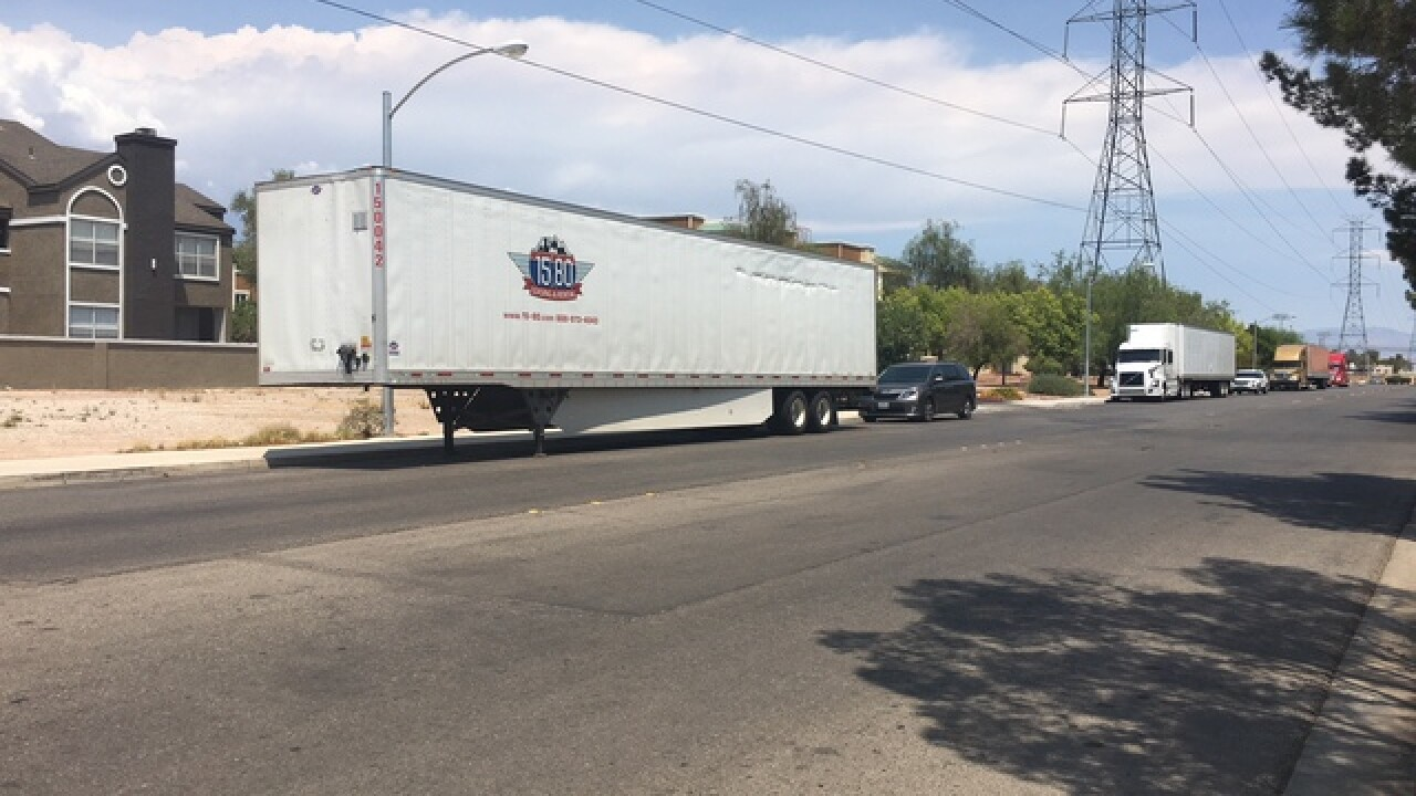 Tired truckers have few parking options in Vegas