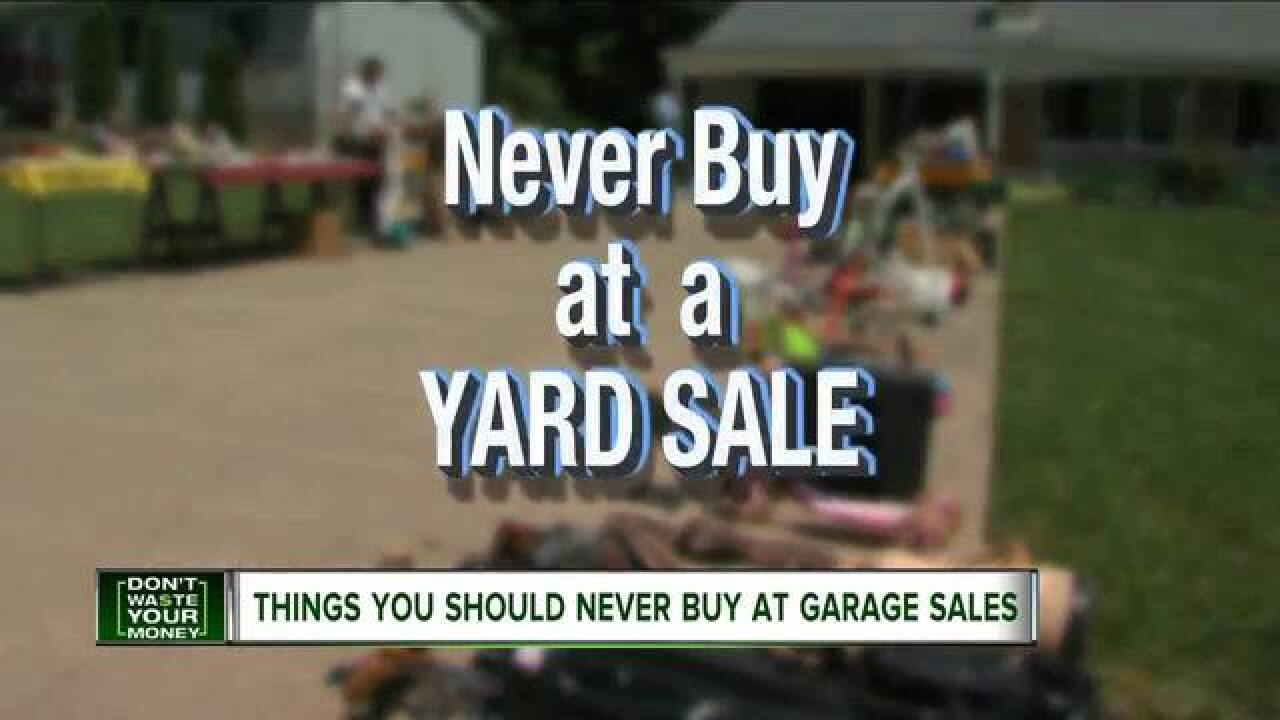 What not to buy at a garage sale