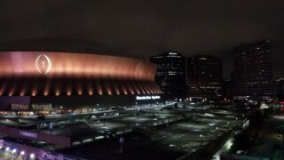 College Football National Championship Logo on Superdome