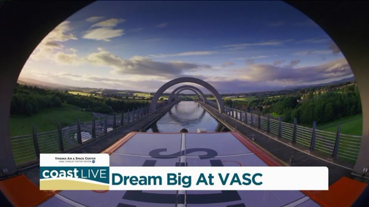 We Dream Big with a preview of the new IMAX movie at the VA Air & Space Center on CoastLive