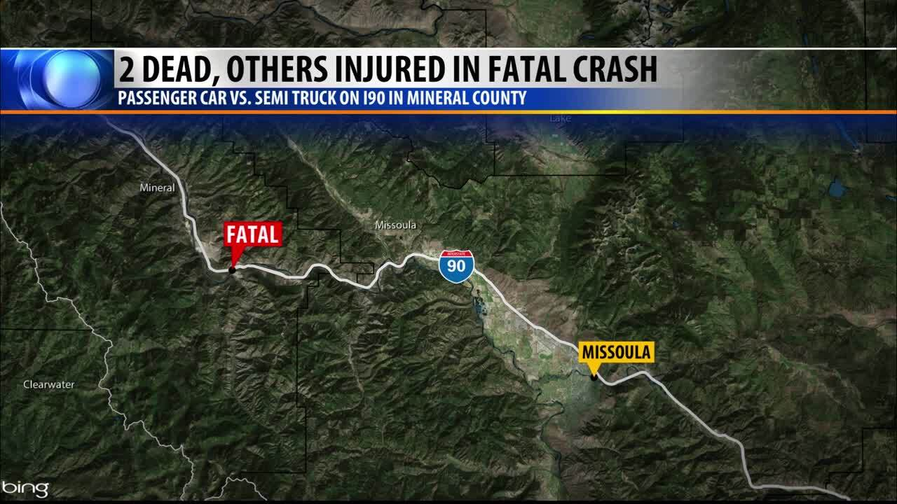 Victims of I-90 double fatal Mineral County accident identified