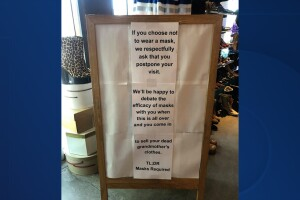 Phoenix shop's sign goes viral for mandating masks