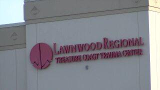 'Lawnwood Regional Trauma Coast Trauma Center' sign